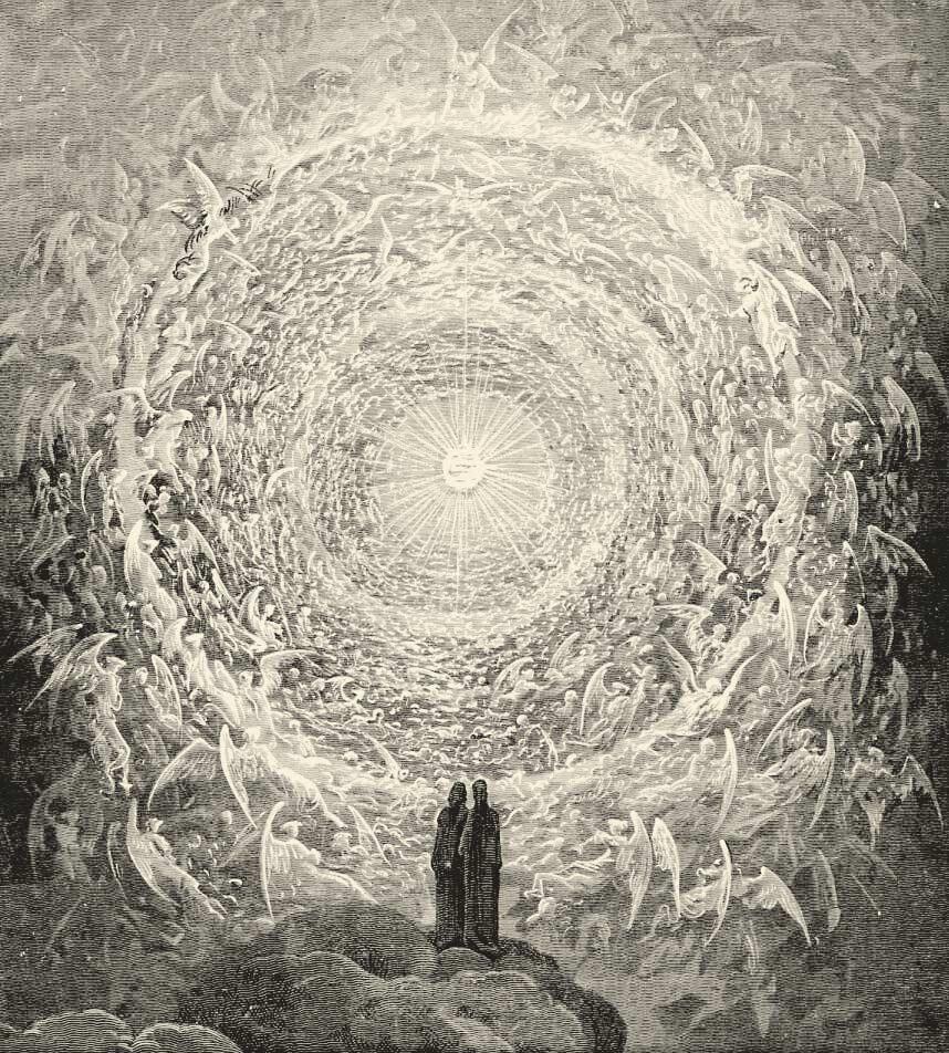Gravure van Gustave Doré op basis van beschrijvingen uit Dantes 'Goddelijke Komedie'.
