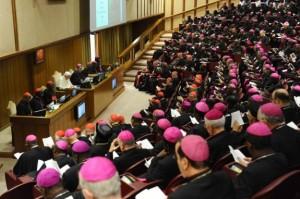 Bisschoppen in synode bijeen.