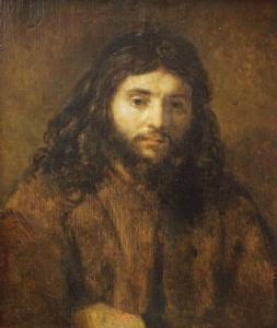 Jezus door Rembrandt.