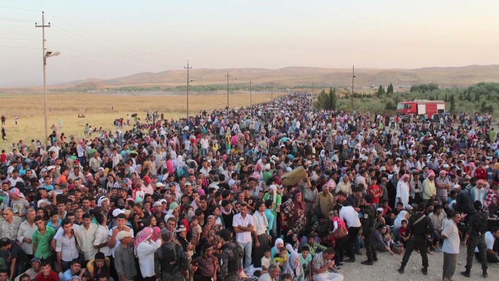 Syrische vluchtelingen in Noord-Irak