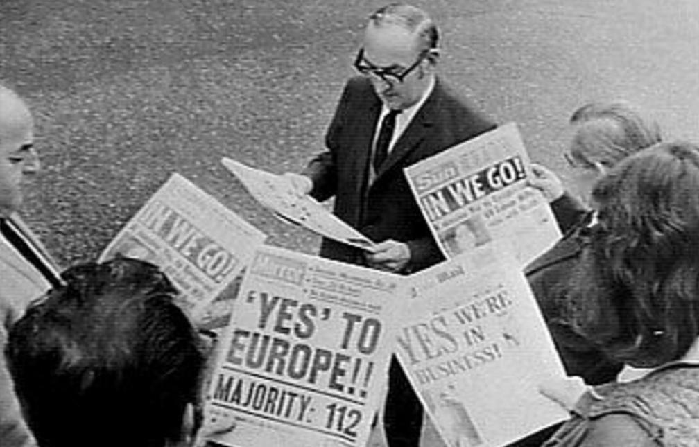 Britten treden toe tot de EU, 1973