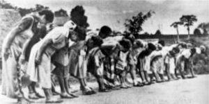 Vrouwen in een Jappenkamp.