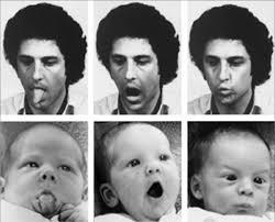 Het enige wat baby's niet hoeven te leren is imiteren...